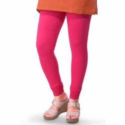 Pink Cotton Ladies Plain Legging, Size: Medium And Large