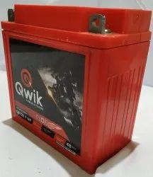 QWIK Motorcycle Battery QR12R9MF, Capacity: 9ah