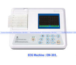 Portable Automatic ECG Machine, Number of Channels: 3