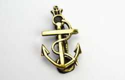 Nautical Anchor Antique Door Brass Knob