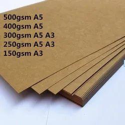 Bamboo Pulp Brown Virgin Kraft Paper, Paper Size: 25