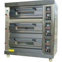 Automatic Portable Three Deck Oven, Baking Capacity: 36 Trays, 2.4 kW/hr