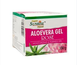 Sunrise Organic Aloevera Rose Gel HSN CODE - 3003, For Beauty, Packaging Size: Box