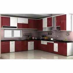 L Shape Kitchen Interior Designing