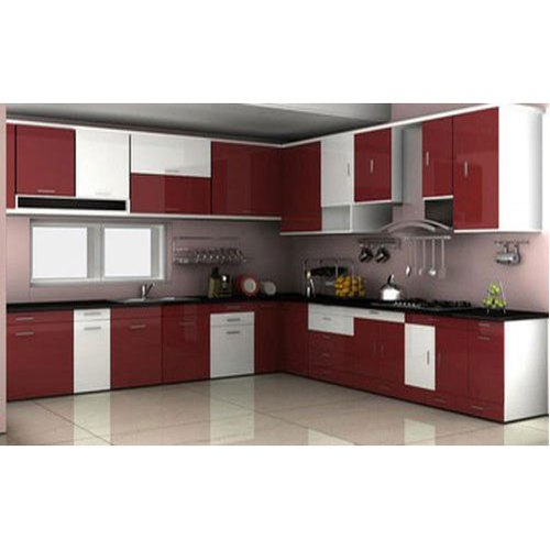 L Shape Kitchen Interior Designing Service Unicc Interiors Id 20726007162