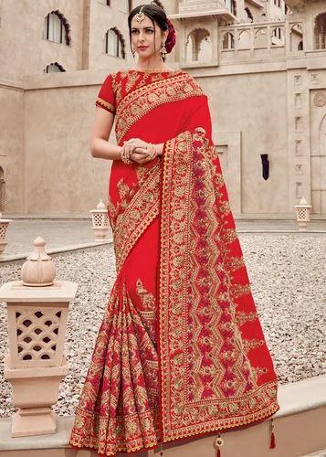 Details about  /Gorgeous Elegant Satin Georgette Silk Sari Saree w// Blouse Fabric Light Pink