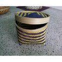 Bamboo Blue Round Box