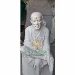 Polished Sai Baba Marble Statue