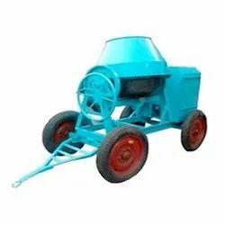 Mild Steel Mobile concrete mixer, For Construction, Drum Capacity: 750 L