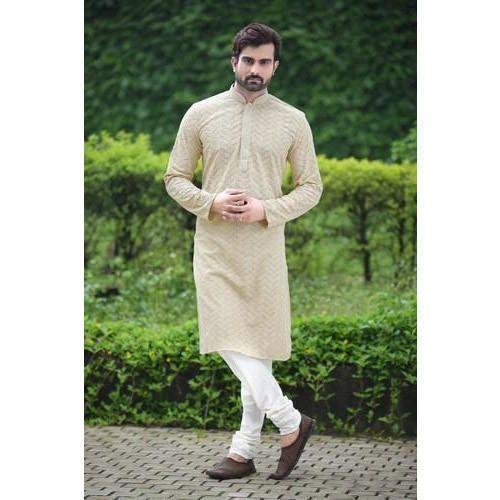 Full Sleeve Off White Kurta Pajama