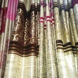 Printed Silk Designer Window Curtain