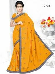 Full Embroidery Work Saree