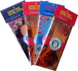 Greeting Envelopes  Pack Of 4