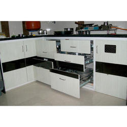 Powder Coating PVC Kitchen Cabinet