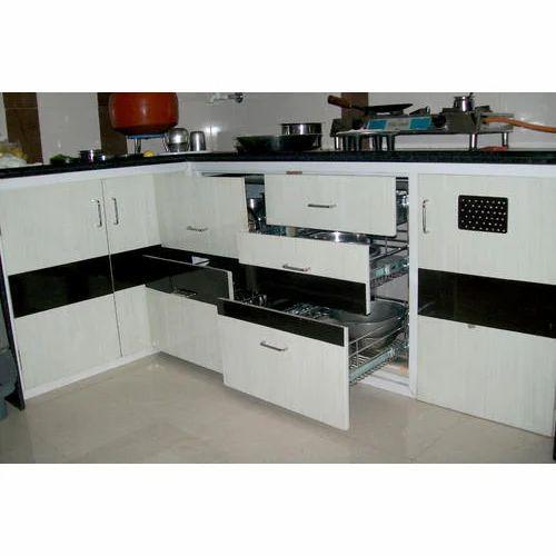 Ferro Powder Coating PVC Kitchen Cabinet, Rs 1160 /square ...