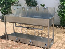 Servo SS Sanitizer Wash Basin for Commercials