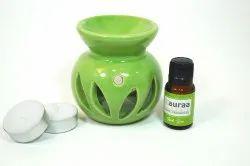 Green Oil Diffuser Candle Burner