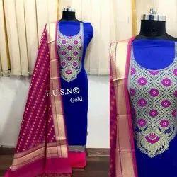 Printed Cotton Dress Banarasi Suit Material