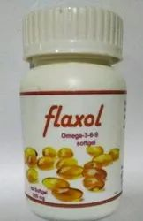 Darsh Omega 3 Flaxseed Oil Softgel Capsules, Packaging Type: Hdpe Bottle