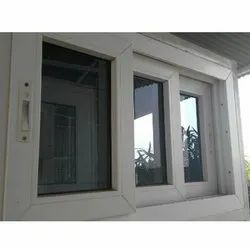 White UPVC Sliding Home Window, for Residential, Thickness Of Glass: 10-15 Mm