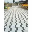 Black, White Rectangular Plain Interlock Cement Paver Block, For Pavement, Thickness: 3-5 Inches
