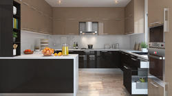 Residential G Shape Modular Kitchen