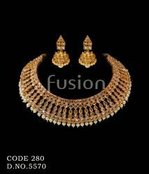 Traditional Polki Wedding Necklace Set