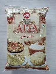 Pk Whole Wheat Atta, Packaging Type: Packet