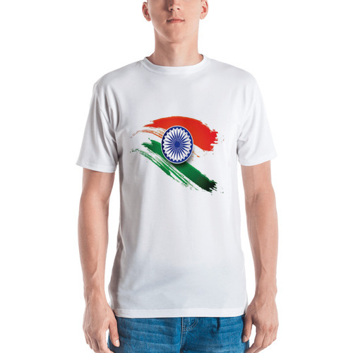 b5a0e5641c0 Unisex Indian Flag Printed Polyester T-Shirt