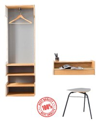 Wood Wardrobe With Study Table