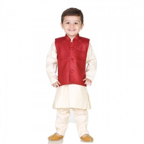 3b1c450a054a Kids Boys Kurta Pajama with Jacket Set