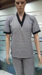 V neck Assistant Chef Uniform - ACU-1
