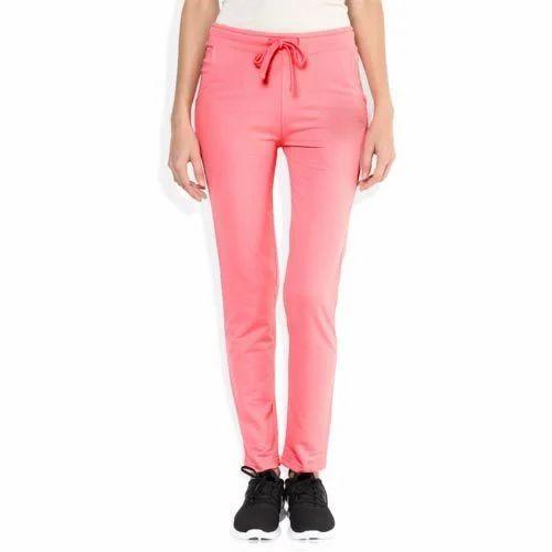 27b7b2cd1 Pink Lycra Cotton Athliesure Lower For Women
