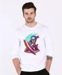 5eee8e9b2c Men Full Sleeves Captain America T shirts