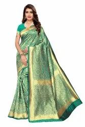 Festive Wear Banarasi Silk Saree,with Blouse Piece