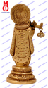 Lord Krishna Standing On Round Base Statues