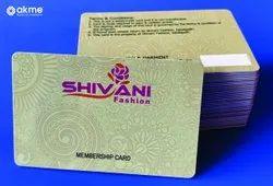 Multicolor Plastic Pre-Printed Store Membership Cards