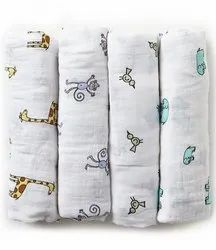 Organic Cotton Double Cloth Muslin Printed Swaddle Fabric