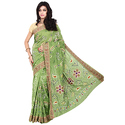 Green Bandhani Saree