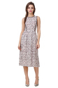 Western Checkered Midi Dress