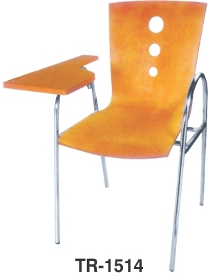 Wooden Shell Writing Arm Student Training Chair & Staff Office School Furniture College Chairs