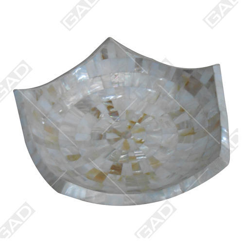 Gad Grey Mother Of Pearl Bowl