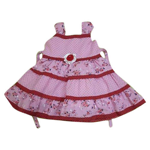 a0b5abd4 Pink Casual Wear Baby Girl Trendy Printed Cotton Frock, Rs 250 ...