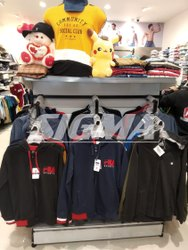 Grey Mild Steel Garments Center Racks, Warranty: 1 Year