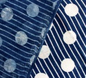 Indigo Blue Polka Dot Hand Block Print Cotton Fabric