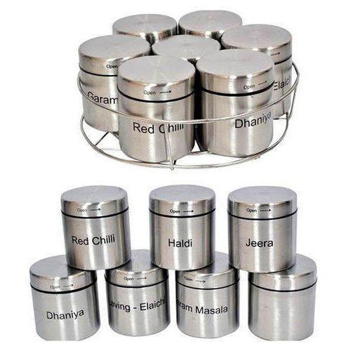Spices Storage Container Masala Rakhne Ka Bartan V J Steel
