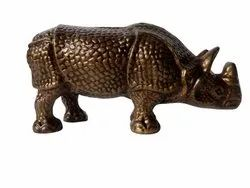 Decorative Metal Rhino Statues