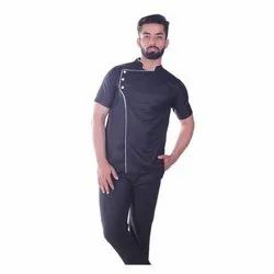 Half Sleeve Cotton Restaurant Chef Uniform, Size: S-XL