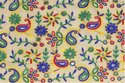 Embroidered Silk Dupioni Fabric