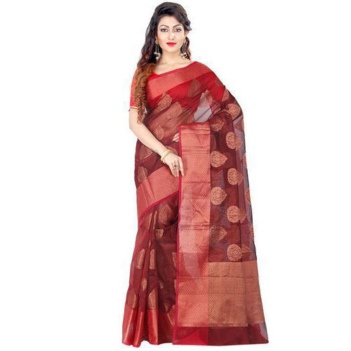 8393d11c6 Chanderi Cotton Ethnic Banarasi Saree